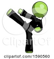 Green Clergy Man Ninja Kick Left