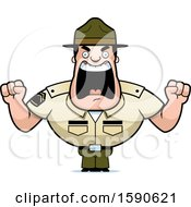Cartoon Angry Male Drill Sergeant