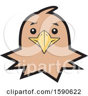 Clipart Of A Hawk Mascot Face Royalty Free Vector Illustration