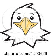 Clipart Of A Bald Eagle Mascot Face Royalty Free Vector Illustration