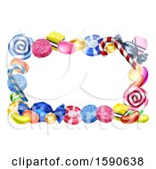 Clipart Of A Border Of Candies Royalty Free Vector Illustration