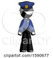 Ink Police Man Standing Facing Forward