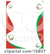 Stationery Border Of Christmas Wreaths Clipart Illustration