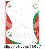 Stationery Border Of Christmas Wreaths