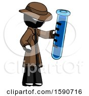 Ink Detective Man Holding Large Test Tube