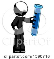 Ink Clergy Man Holding Large Test Tube