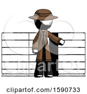 Ink Detective Man With Server Racks In Front Of Two Networked Systems