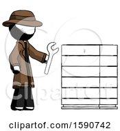 Ink Detective Man Server Administrator Doing Repairs