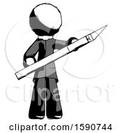 Ink Clergy Man Holding Large Scalpel