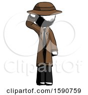 Ink Detective Man Soldier Salute Pose