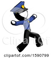 Ink Police Man Running Away In Hysterical Panic Direction Right