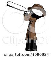 Ink Detective Man Thermometer In Mouth