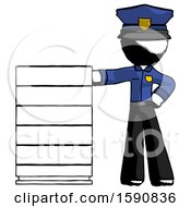 Ink Police Man With Server Rack Leaning Confidently Against It