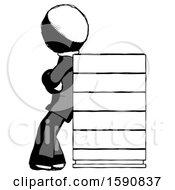 Ink Clergy Man Resting Against Server Rack