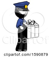 Ink Police Man Giving A Present