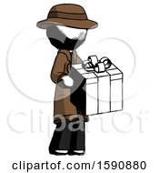 Ink Detective Man Giving A Present