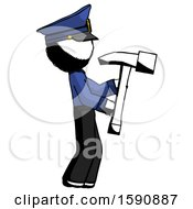 Ink Police Man Hammering Something On The Right