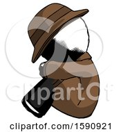 Ink Detective Man Sitting With Head Down Facing Sideways Left