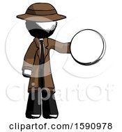 Ink Detective Man Holding A Large Compass