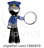 Ink Police Man Holding A Large Compass