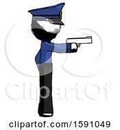 Ink Police Man Firing A Handgun