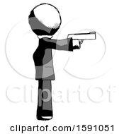 Ink Clergy Man Firing A Handgun