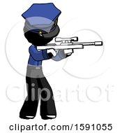 Ink Police Man Shooting Sniper Rifle