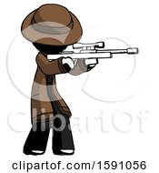 Ink Detective Man Shooting Sniper Rifle