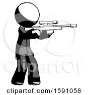 Ink Clergy Man Shooting Sniper Rifle