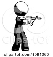 Ink Clergy Man Shooting Automatic Assault Weapon