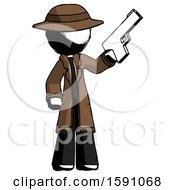 Ink Detective Man Holding Handgun
