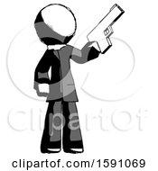 Ink Clergy Man Holding Handgun
