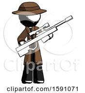 Ink Detective Man Holding Sniper Rifle Gun