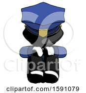 Ink Police Man Sitting With Head Down Facing Forward
