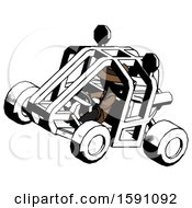 Ink Detective Man Riding Sports Buggy Side Top Angle View