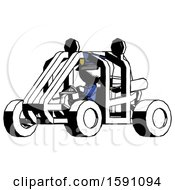 Ink Police Man Riding Sports Buggy Side Angle View