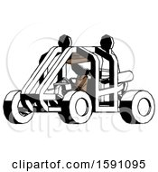 Ink Detective Man Riding Sports Buggy Side Angle View