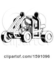 Ink Clergy Man Riding Sports Buggy Side Angle View