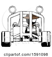 Ink Detective Man Riding Sports Buggy Front View