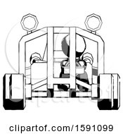 Ink Clergy Man Riding Sports Buggy Front View