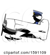 Ink Police Man In Geebee Stunt Aircraft Side View
