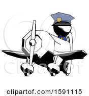 Ink Police Man Flying In Geebee Stunt Plane Viewed From Below