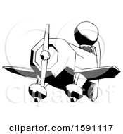 Ink Clergy Man Flying In Geebee Stunt Plane Viewed From Below