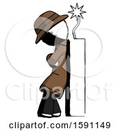 Ink Detective Man Leaning Against Dynimate Large Stick Ready To Blow