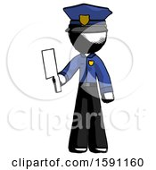 Ink Police Man Holding Meat Cleaver
