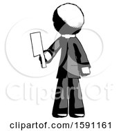 Ink Clergy Man Holding Meat Cleaver