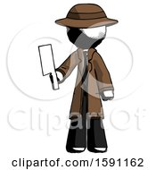 Ink Detective Man Holding Meat Cleaver
