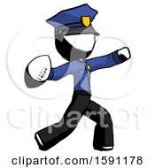 Ink Police Man Throwing Football