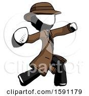 Ink Detective Man Throwing Football