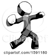 Ink Clergy Man Throwing Football